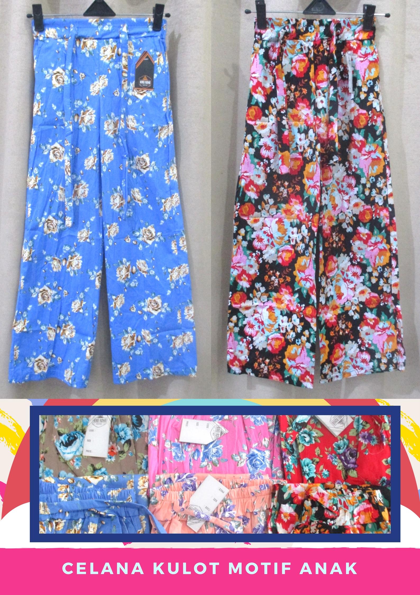 Pusat Grosir Baju Murah Solo Klewer 2019 Agen Celana Kulot Motif Anak Perempuan Murah di Solo 24Ribu