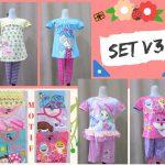 Pusat Grosir Baju Murah Solo Klewer 2018 Pusat Grosir Setelan V3 Karakter Anak Perempuan Murah di Solo 24Ribu