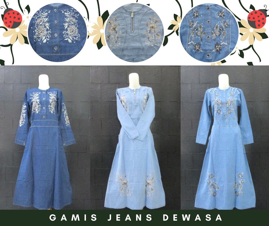 Pusat Grosir Baju Murah Solo Klewer 2019 Konveksi Gamis Jeans Dewasa Casual Murah di Solo 90Ribu