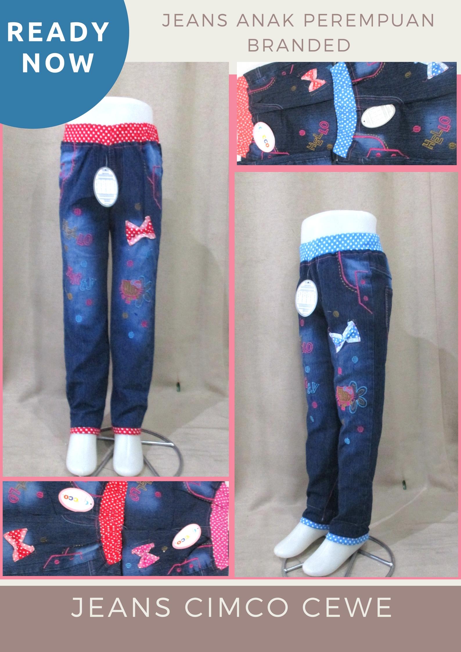 Pusat Grosir Baju Murah Solo Klewer 2021 Distributor Celana Jeans Cimco Anak Perempuan Murah di Solo 35Ribu