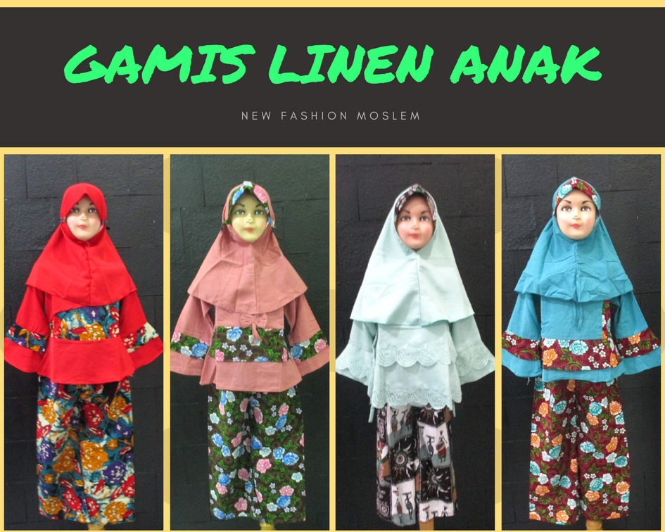 Pusat Grosir Baju Murah Solo Klewer 2019 Agen Gamis Linen Anak Perempuan Syar'i Termurah di Solo 78Ribu