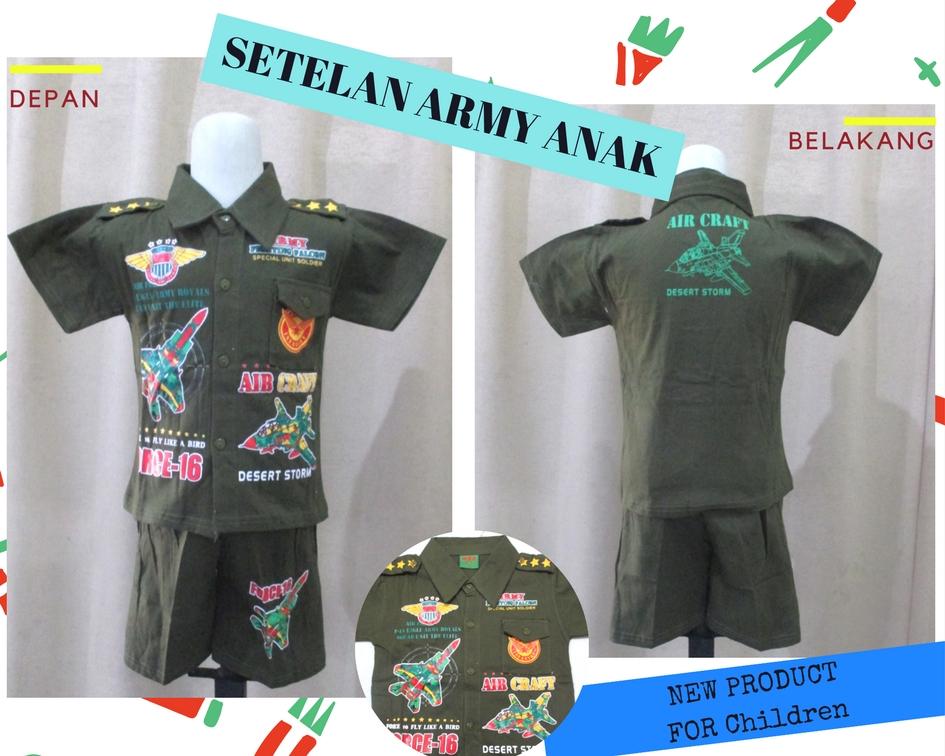 Pusat Grosir Baju Murah Solo Klewer 2019 Produsen Setelan Army Anak Laki Laki Murah di Solo 26Ribu