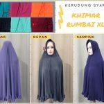 Pusat Grosir Baju Murah Solo Klewer 2018 Supplier Khimar Rumbai XL Syari Dewasa Murah di Solo 30Ribu