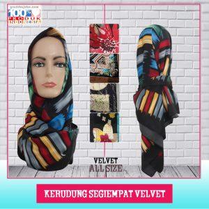 Pusat Grosir Baju Murah Solo Klewer 2021 Kerudung Segiempat Velvet