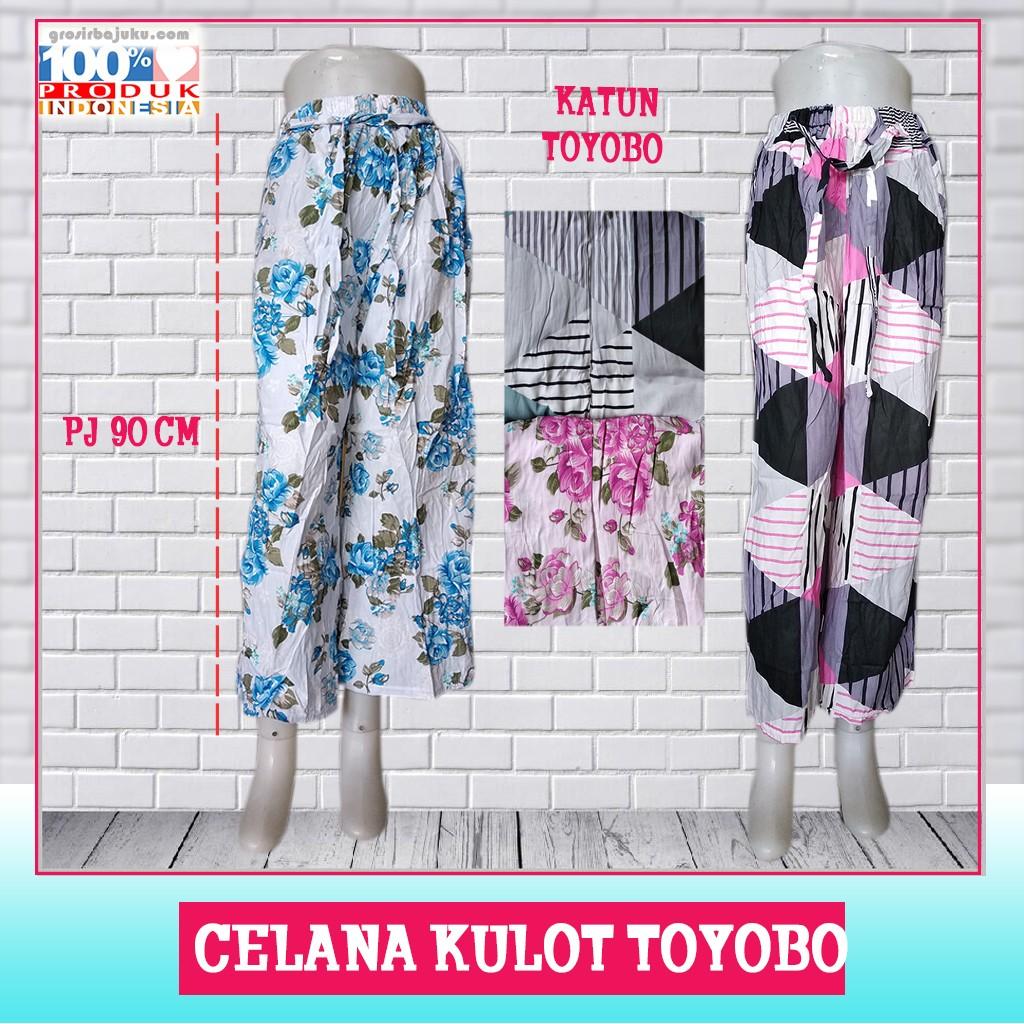 Pusat Grosir Baju Murah Solo Klewer 2019 Supplier Celana Kulot Toyobo Murah di Solo