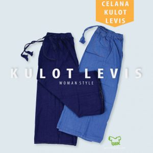 Pusat Grosir Baju Murah Solo Klewer 2021 celana kulot levis flatlay