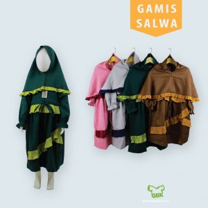 Pusat Grosir Baju Murah Solo Klewer 2021 Gamis Salwa Anak