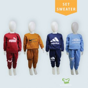 Pusat Grosir Baju Murah Solo Klewer 2021 Set Sweater Anak Murah